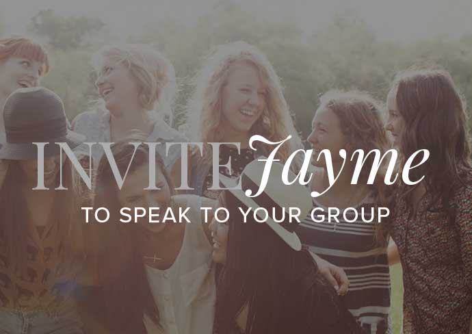 Invite Jayme to Speak