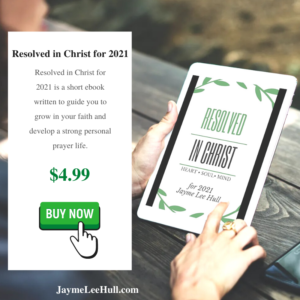 Bold in Christ Sq for ebook, Resolved in Christ for 2021 is a short ebook written to guide you to grow in your faith and develop a strong personal prayer life.