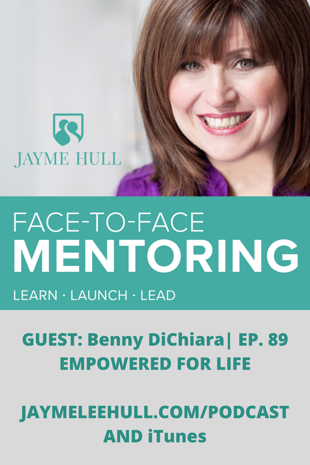 Do you believe in miracles? Do you believe God has a plan for your life? This week on Face To Face Mentoring Podcast episode #89 my guest is Benny DiChiara. Benny will share his passion for Jesus and how the personal crisis he experienced changed his life forever. From mentor to mentor with Empowered for life with Benny DiChiara.